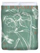 La Botanique Aqua Duvet Cover by Debbie DeWitt