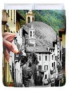 La Comacina Ristorante-colonno, Ital Duvet Cover