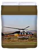 La County Fire Air Support Duvet Cover