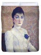La Dame La Robe Blanche 1886 Duvet Cover