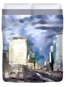 Paris La Defense Duvet Cover
