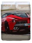 La Ferrari - Rear View Duvet Cover