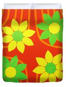 La Flor De La Vida Duvet Cover
