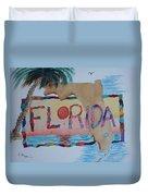 La Florida Flowered Land Duvet Cover