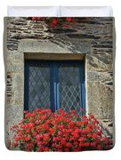 La Gacilly, Morbihan, Brittany, France, Window Duvet Cover