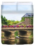 La Gacilly, River Aff, Brittany, France Duvet Cover