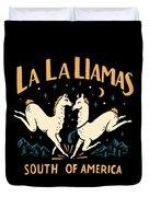 La La Llamas Duvet Cover