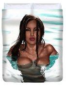 La Llorona Duvet Cover by Pete Tapang