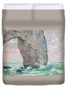 La Manneporte A Etretat Duvet Cover by Claude Monet