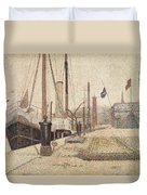 La Maria At Honfleur Duvet Cover