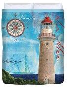 La Mer Duvet Cover by Debbie DeWitt