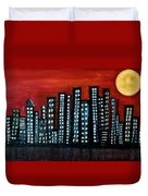 L.a. Moon Duvet Cover