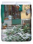 La Neve A Casa Duvet Cover by Guido Borelli