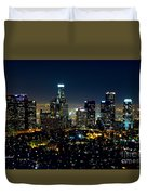 L.a. Night View Duvet Cover