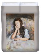 La Pensee My Reproduction Of Renoirs Work Duvet Cover