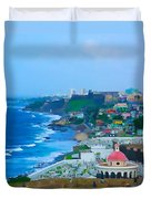 La Perla In Old San Juan Duvet Cover
