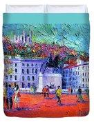 La Place Bellecour A Lyon Duvet Cover