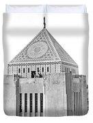 La Public Library Tower Mosaic Duvet Cover