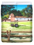 La Purisima With Fence Duvet Cover