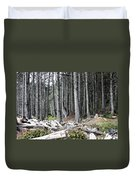La Push Beach Trees Duvet Cover