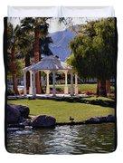 La Quinta Park Lake And Gazebo Duvet Cover