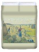 The Harvesting Of Hay Eragny  Duvet Cover