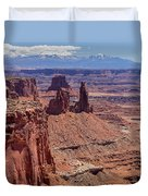 La Sal And The Canyon Duvet Cover