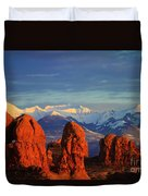 La Sal Mountains In Arches Np Utah Duvet Cover