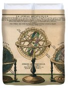 La Sphere Artificielle - Illustration Of The Globe - Celestial And Terrestrial Globes - Astrolabe Duvet Cover