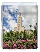 La Temple Pink Duvet Cover