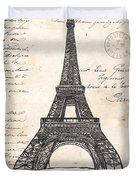 La Tour Eiffel Duvet Cover by Debbie DeWitt