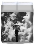 Lamp In The Clouds Duvet Cover