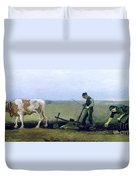 Labourer And Peasant  Duvet Cover