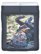 Labrador Retriever Chocolate Fun Duvet Cover