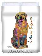 Labrador Retriever Pop Art Duvet Cover
