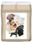 Labrador Retriever W/ghost Duvet Cover