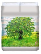 Laburnum Tree In Splendid Isolation Duvet Cover