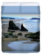 Labyrinths At Bandon Beach Duvet Cover