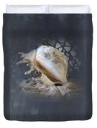 Lace Murex Sea Shell In Blue 2 Duvet Cover