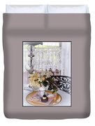 Lacey Curtain And Pastry Duvet Cover