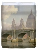 Blackfriars Bridge And St Paul's Cathedral Duvet Cover