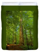 Lady And The Tree Duvet Cover