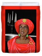 Lady At The Candelabra Duvet Cover
