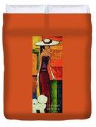 Bichon Frise Lady Duvet Cover