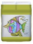 Lady Fish  Duvet Cover