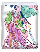 Lady He Of The Eight Immortals Duvet Cover