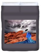 Lady In Blue Nevada Duvet Cover