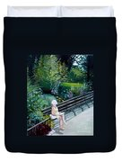 Lady In Central Park Duvet Cover