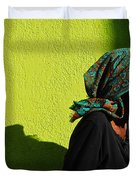 Lady In Green Duvet Cover