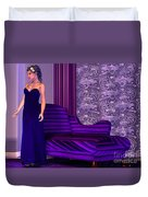 Lady In Lilac Room Duvet Cover